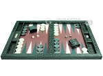 picture of Hector Saxe Faux Croco Tabletop Backgammon Set - Emerald Green (4 of 11)