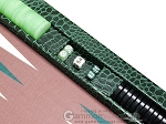 picture of Hector Saxe Faux Croco Tabletop Backgammon Set - Emerald Green (9 of 11)