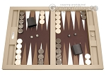 Hector Saxe Leatherette Tabletop Backgammon Set - Ivory - Item: 2739