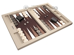 picture of Hector Saxe Leatherette Tabletop Backgammon Set - Ivory (2 of 11)
