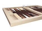 picture of Hector Saxe Leatherette Tabletop Backgammon Set - Ivory (5 of 11)