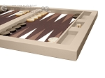 picture of Hector Saxe Leatherette Tabletop Backgammon Set - Ivory (6 of 11)