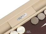 picture of Hector Saxe Leatherette Tabletop Backgammon Set - Ivory (7 of 11)