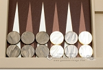 picture of Hector Saxe Leatherette Tabletop Backgammon Set - Ivory (8 of 11)