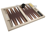 picture of Hector Saxe Leatherette Tabletop Backgammon Set - Ivory (10 of 11)