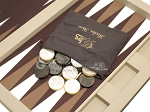 picture of Hector Saxe Leatherette Tabletop Backgammon Set - Ivory (11 of 11)