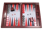 Hector Saxe Faux Snake Tabletop Backgammon Set - Maroon - Item: 2737