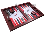 picture of Hector Saxe Faux Snake Tabletop Backgammon Set - Maroon (2 of 11)