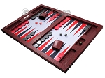 picture of Hector Saxe Faux Snake Tabletop Backgammon Set - Maroon (3 of 11)