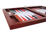 picture of Hector Saxe Faux Snake Tabletop Backgammon Set - Maroon (5 of 11)