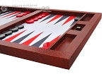 picture of Hector Saxe Faux Snake Tabletop Backgammon Set - Maroon (6 of 11)