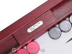 picture of Hector Saxe Faux Snake Tabletop Backgammon Set - Maroon (7 of 11)