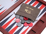 Hector Saxe Faux Snake Tabletop Backgammon Set - Maroon