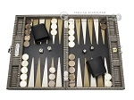 Hector Saxe Scottish Linen Travel Backgammon Set - Item: 2735