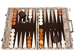 picture of Hector Saxe Python Leather Backgammon Set - Beige (1 of 12)