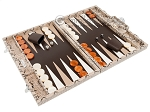 picture of Hector Saxe Python Leather Backgammon Set - Beige (2 of 12)