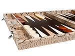 picture of Hector Saxe Python Leather Backgammon Set - Beige (5 of 12)
