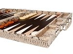 picture of Hector Saxe Python Leather Backgammon Set - Beige (6 of 12)