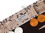 picture of Hector Saxe Python Leather Backgammon Set - Beige (7 of 12)