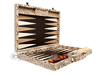 picture of Hector Saxe Python Leather Backgammon Set - Beige (10 of 12)