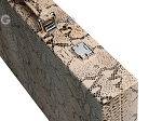 picture of Hector Saxe Python Leather Backgammon Set - Beige (12 of 12)