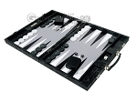 picture of Hector Saxe Python Leather Backgammon Set - Black (3 of 12)