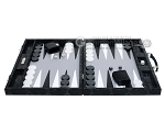 picture of Hector Saxe Python Leather Backgammon Set - Black (4 of 12)