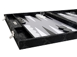 picture of Hector Saxe Python Leather Backgammon Set - Black (5 of 12)