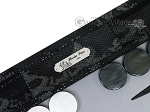 picture of Hector Saxe Python Leather Backgammon Set - Black (8 of 12)