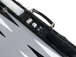 picture of Hector Saxe Python Leather Backgammon Set - Black (9 of 12)