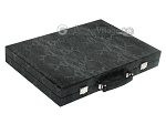 Hector Saxe Python Leather Backgammon Set - Black - Item: 2744