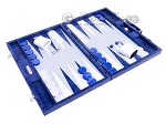 picture of Hector Saxe Python Leather Backgammon Set - Blue (2 of 12)