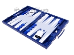picture of Hector Saxe Python Leather Backgammon Set - Blue (3 of 12)
