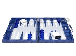 picture of Hector Saxe Python Leather Backgammon Set - Blue (4 of 12)
