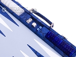 picture of Hector Saxe Python Leather Backgammon Set - Blue (9 of 12)