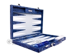 picture of Hector Saxe Python Leather Backgammon Set - Blue (10 of 12)