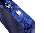 picture of Hector Saxe Python Leather Backgammon Set - Blue (12 of 12)