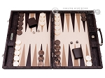 picture of Hector Saxe Python Leather Backgammon Set - Brown (1 of 12)