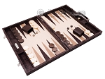 picture of Hector Saxe Python Leather Backgammon Set - Brown (2 of 12)