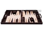 picture of Hector Saxe Python Leather Backgammon Set - Brown (4 of 12)