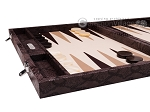 picture of Hector Saxe Python Leather Backgammon Set - Brown (5 of 12)