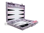 Hector Saxe Python Leather Backgammon Set - Parma