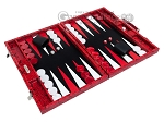 picture of Hector Saxe Python Leather Backgammon Set - Red (2 of 12)