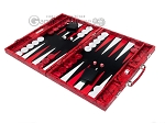 picture of Hector Saxe Python Leather Backgammon Set - Red (3 of 12)