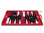 picture of Hector Saxe Python Leather Backgammon Set - Red (4 of 12)