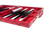 picture of Hector Saxe Python Leather Backgammon Set - Red (6 of 12)