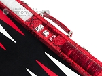 picture of Hector Saxe Python Leather Backgammon Set - Red (9 of 12)