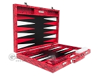 picture of Hector Saxe Python Leather Backgammon Set - Red (10 of 12)
