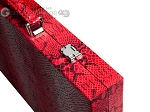 Hector Saxe Python Leather Backgammon Set - Red