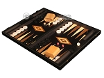 Black Backgammon Set - Large - Black Field